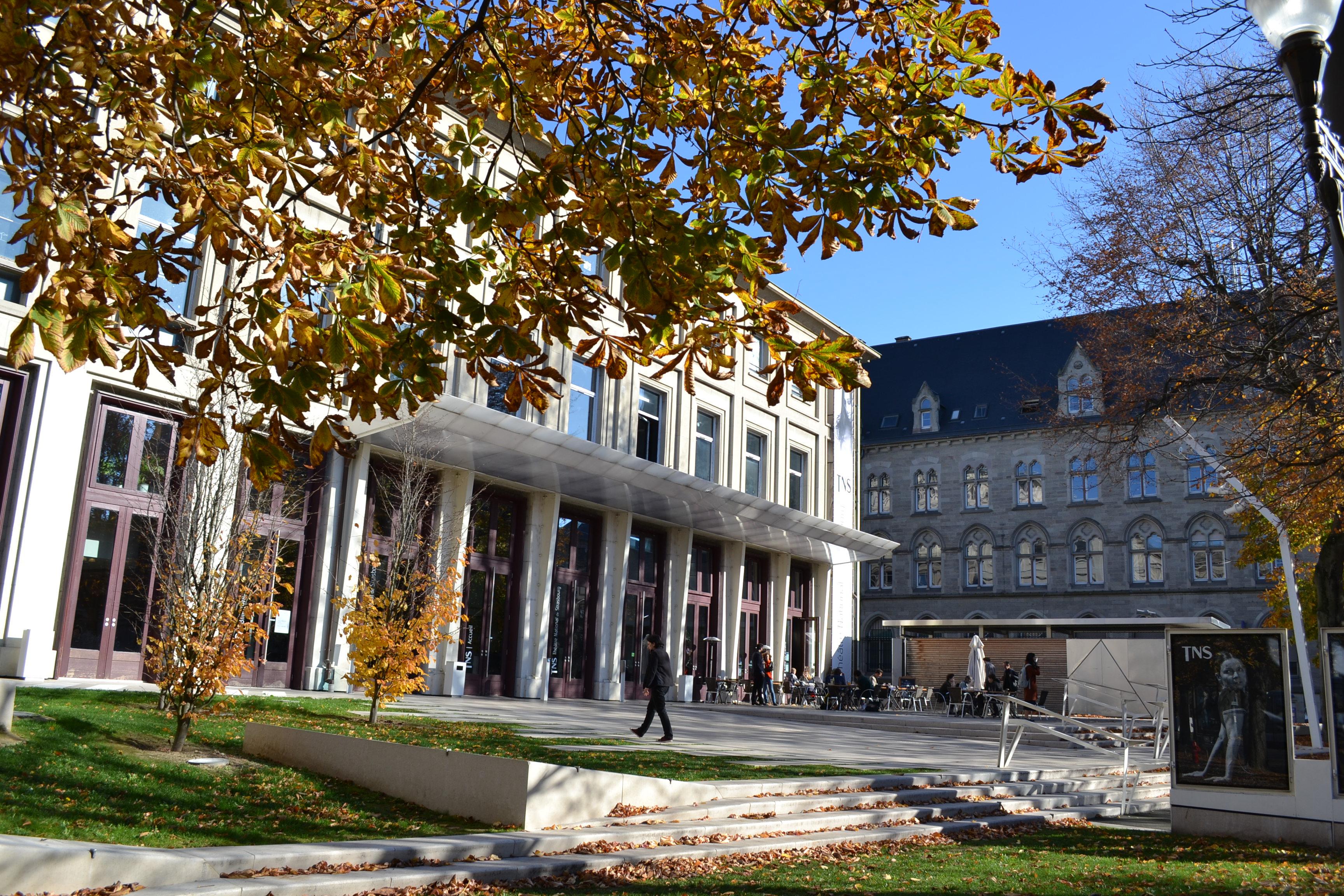 La façade de l'école du TNS